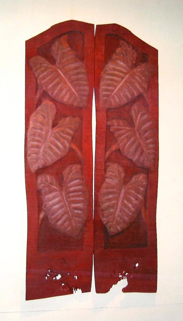 COCOA WALK, 2006, cedar and oil, 48 x 94 x 1¼ in