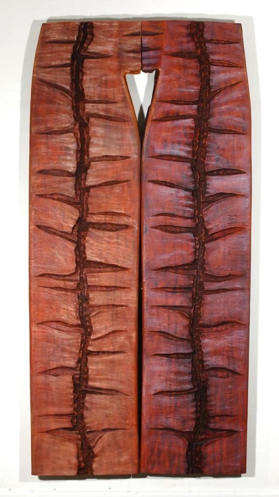 BANANA TRASH, 2006, mahogany and oil, 49 x 100 x 1¼ in