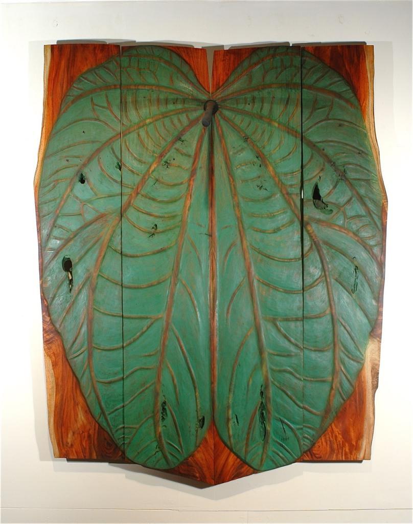 BULL FOOT, 2006: cedar and oil, 76 x 94 x 1¼ in