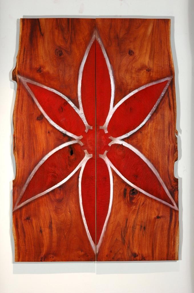 STAR, 2006, cedar and pigment 50 x 72 x 1¼ in