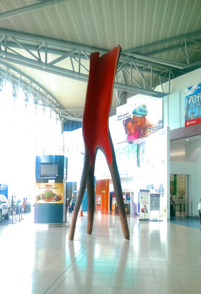 WALKING TREE, 2014, cedar, 24 feet, Norman Manley International Airport, Kingston, Jamaica