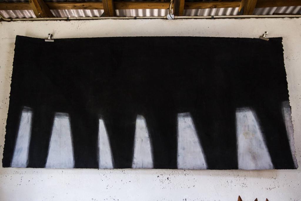 CORONA, 2011, mixed media on paper, 8ft