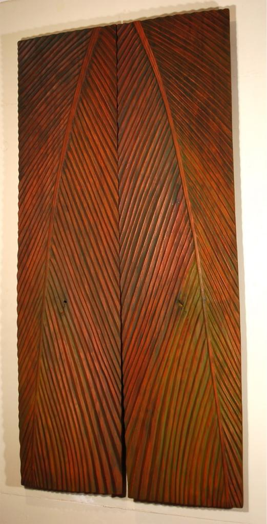 PALM, 2006, mahogany and oil, 49 x 100 x 1¼ in